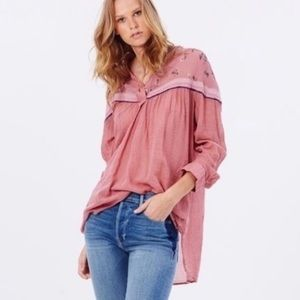 Free People Tops - Free People Hearts and Colors oversized shirt sz S